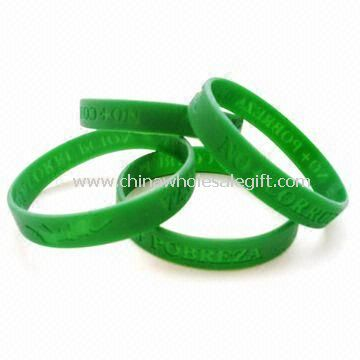 Silicone Wristbands/Rubber Bracelets Made of Silicone Material