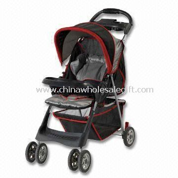 Baby Stroller, Made with All-place Backrest and 8 x 6 Inches Wheels