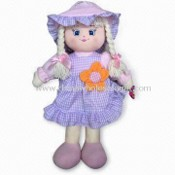 Doll in Various Colors and Designs with 100% PP Cotton Inside, Made of Plush images