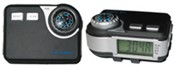 Pedometer with radio and compass images