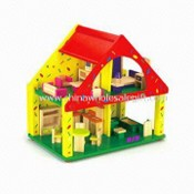 Wooden Doll House, Suitable for Children Playing, Measures 41 x 41 x 9cm images