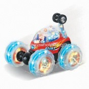 RC Toy Tumbler Car with Flashlight, Measuring 190 x 155 x 170mm images