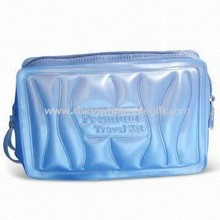 Eco-friendly Cosmetic Bag, Made of PVC, PEVA or EVA, Available in Blue images