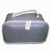 Cosmetic Bag with Double Zipper, Made of 600D Polyester PVC Material images