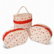 Cosmetic Bags, Eco-friendly Material, Made of PVC, PEVA or EVA images