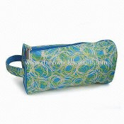 Printed 420D Cosmetic Bag with 190T full lining, Measurse 25.5 x 9.5 x 12cm images