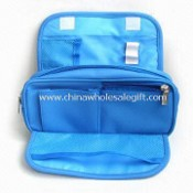 Printed 420D Cosmetic Bag with Velcro Flap Closure images