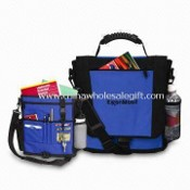 Conference/Messenger Bag with Side Mesh and Side Flap Pocket, Made of 600D Polyester images