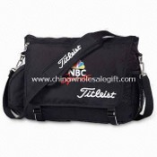 Messenger Bag with Two Side Mesh Pockets and Main Zippered Compartment images