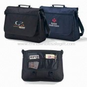 Nylon Messenger/Conference Bags with Multi-pocket Organizer and Key Ring Under Front Flap images