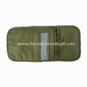 Passport Holder with One Zipper Pocket on Right Side, Made of 70D Nylon Ripstop images