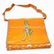 Promotional Shoulder/Messenger Bag with Velcro Tape, Made of PP Woven images