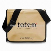 Promotional Shoulder/Messenger Bag with Velcro Tape and Lamination images