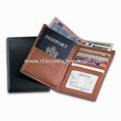 PU Leather Passport/Currency Wallet with Three Business Card Pockets images