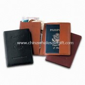 PVC Leather Debossed Passport Holder with One Side and Document Holder images