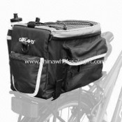 Rear Rack Pack, Made of 100% Polyester with PU Coating Material, Measures 32 x 22 x 21cm images