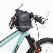 Waterproof Bicycle Front Bag, Made of 1680D PU Nylon and 420D PVC Checker images