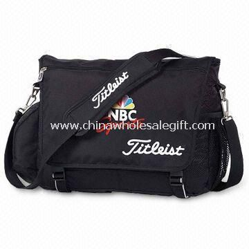 Messenger Bag with Two Side Mesh Pockets and Main Zippered Compartment