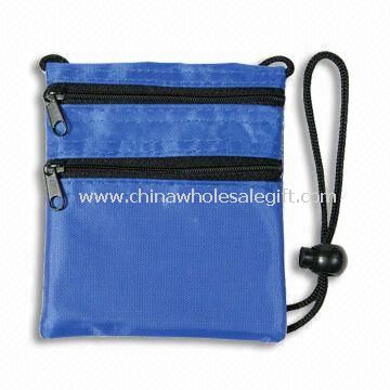 Neck Wallet, Made of 420D Nylon, with 2 Zippered Pockets