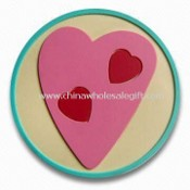 Soft PVC Coaster, Available in Various Patterns and Sizes images