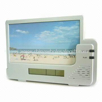 6-second Voice Recording Photo Frame with Clock and Calendar Functions
