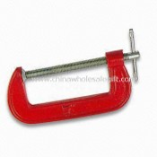 G-clamp, Made of Cast Iron, Available with Chrome Plated Steel Screw images