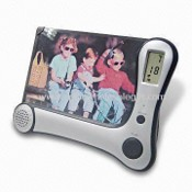 Recording Photo Frame with Alarm Clock, 8 Seconds Recorder, and LED Indicator images