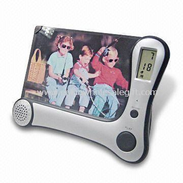 Recording Photo Frame with Alarm Clock, 8 Seconds Recorder, and LED Indicator
