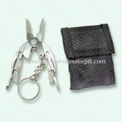 Mini Pocket Tool with Keychain & Nylon Canvas Pouch images