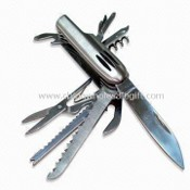 Multifunction Pocket Knife, with Phillips Screwdriver and Size in Closed Condition is 9cm images