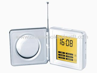 Touch-Screen Alarm Radio Clock with Digital Tuning