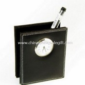 Pen Holder with Clock images