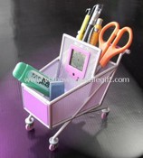 Shopping-cart Penholder with Clock images
