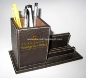 Wood and PU Pen Holder images