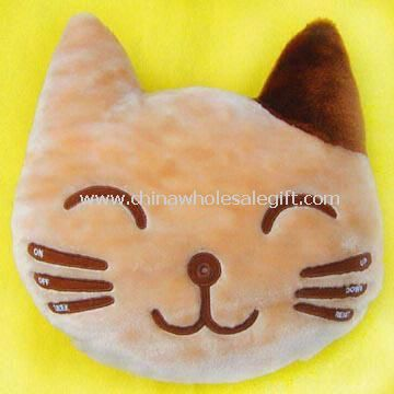 FM Scan Radio Built in Plush and Stuffed Toy Cat Head Pillow/Cushion