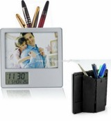 Photo Frame with Clock and Pen Holder images
