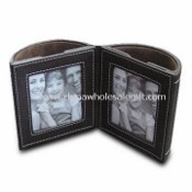PU Leather Photo Frame Pen Holder images