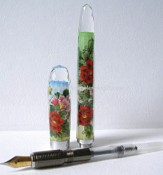Crystal Pen with Hand Painting Inside images