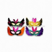 Masks for Parties, Available in Various Colors, Made of Feather images
