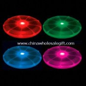 Promotional Plastic Flashing Flying Disc/Frisbee with Colorful Lights and Large Logo Space images