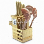 14pcs Kitchen Knife Set with Wooden Block and Kitchen Gadgets images