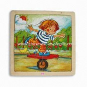 Childrens Puzzle, Made of Solid Wood or Plywood, Measures 18 x 18 x 1.2cm images