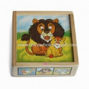 Jigsaw Puzzle, Made of Solid Wood or Plywood, Measures 13 x 13 x 5.2cm images