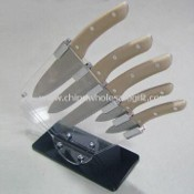 Kitchen Knife Set with Kitchen Scissors, Sharpening Steel, and Timer images