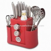Kitchen Set with Salt and Pepper Shakers and Meat Thermometer images