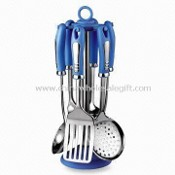Plastic Handle Kitchen Utensil Set with 1.0mm Thickness images