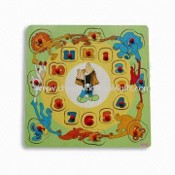 Puzzle Toy, Composed of Animal Blocks and Wooden Frame images