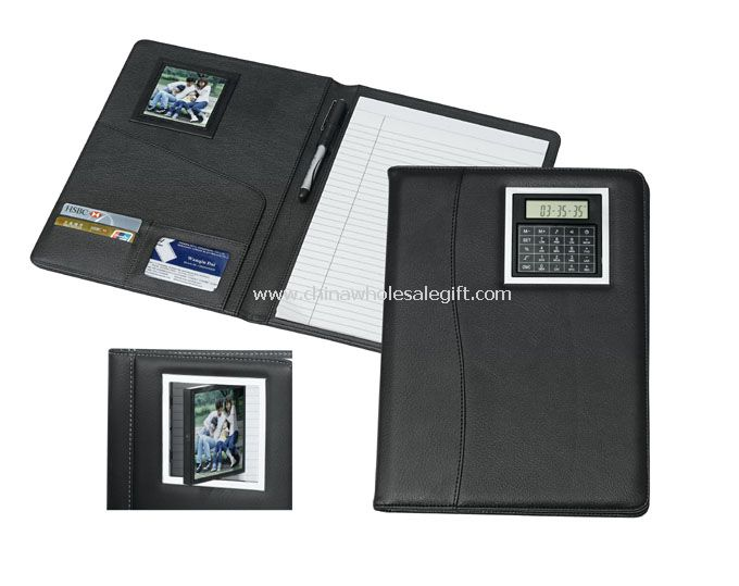 Leather Note Book With Calculator