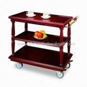 Service/Drink Trolley, Made of Brass Wood and Stainless Steel images
