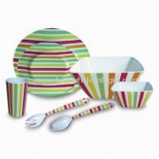 Shatterproof Tasteless/Non-toxic Melamine Colorful Life Dishware Set, Available in Various Designs images